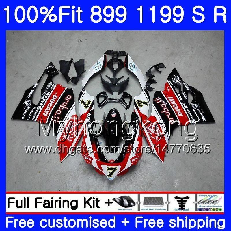 Injektion för Ducati 899 1199 S R PANIGALE 12 13 14 15 16 325HM.0 899R 1199R 899S 1199S 2012 2013 2014 2015 2016 OEM Fairing Hot Red Black