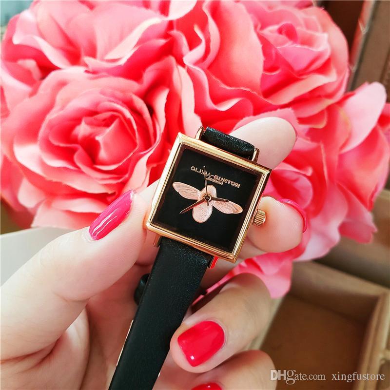 Edição limitada de luxo mulheres relógios top marca de luxo das mulheres moda quadrado pulseira de couro relógio de quartzo reloj mujer à prova d 'água