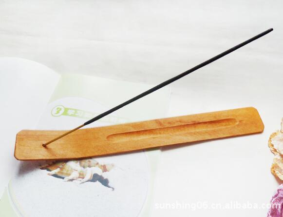 DHL الطبيعية عادي خشب خشبي البخور عصا الرماد الماسك الشعلة حامل البخور عصا حامل نيويورك ديكور المنزل 25 * 3.4 * 0.4CM