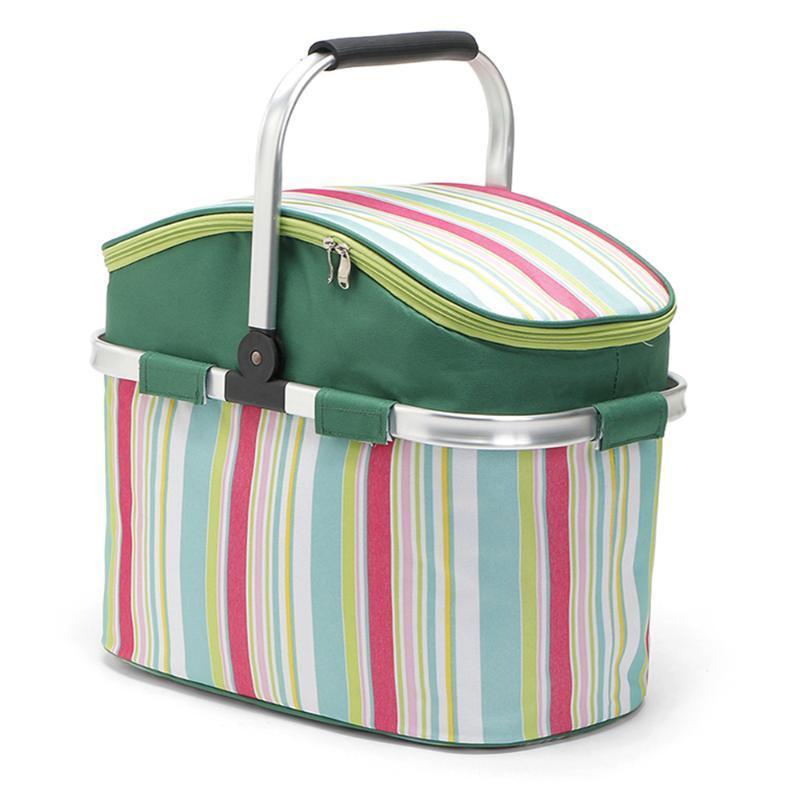 Backpacking Packs Packs Корзина для пикника Большая емкость 26L Кемпинг Холодильник Сумка Портативный Свежий обед Торговая сумка