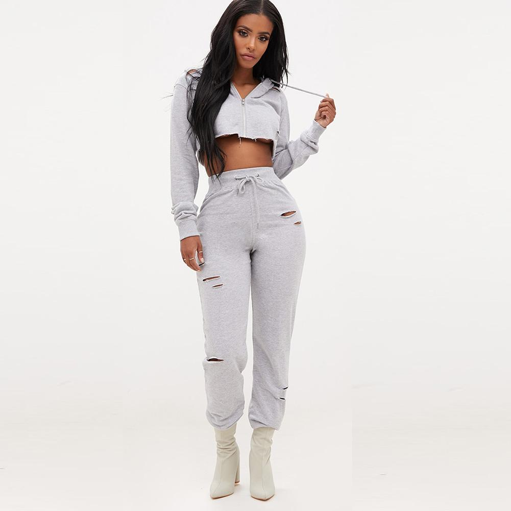 fresh styles big selection pretty and colorful 2019 Set Women Suit Outfit Two Piece Set Slit Sweatpants Autumn Hoodie Set  Female Sweatshirt Pants Tracksuit From Liuyangfuzhuang, $21.7 | DHgate.Com