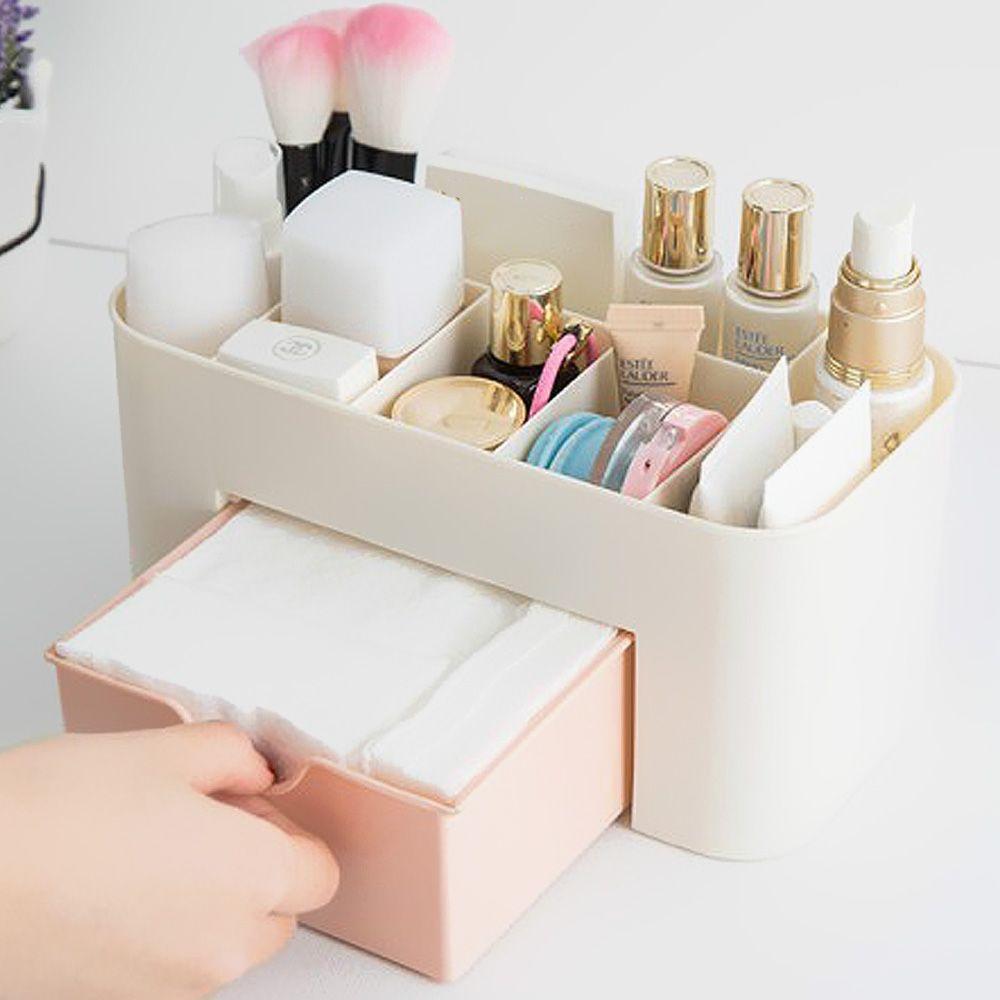Saving Space Desktop Storage Box for Office Home Storage Cosmetic Makeup Storage Drawer Type Box 6 Grids Brush Lipstick Holder