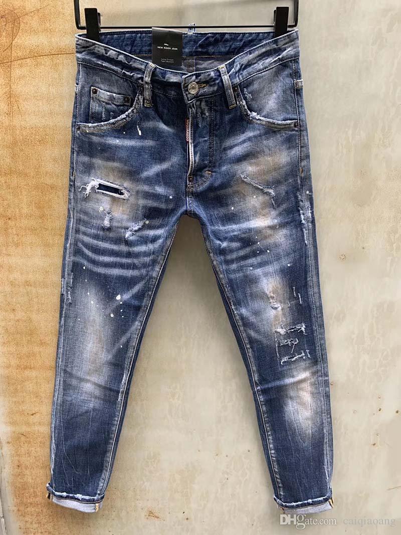 marée jean slim hommes d'automne lâche droit occasionnels marque 2019 hiver nouveaux pantalons longs hommes version coréenne de la tendance