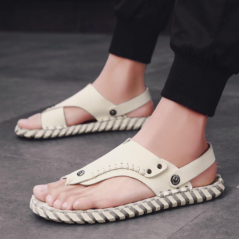 Sandalia geta cava romana comfort informale per lo sport di lusso sandalo 44 mens spiaggia di spessore sandalhas uomo estivo all'aperto 39 sandalias