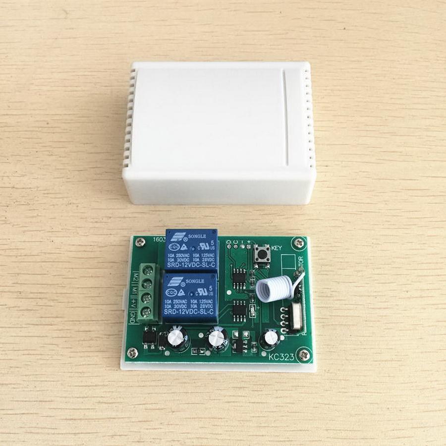 50pcs 433MHz HF-Schalter Relais-Empfänger-Modul und Fernbedienungen für DC Motor Forward- und Reverse-Regler