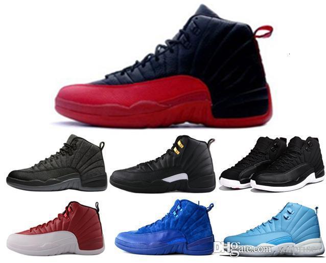 ucuz 12 yün XII basketbol ayakkabıları beyaz Grip Oyun kurt gri Alternatif taksi gama fransız mavi süet spor ayakkabı