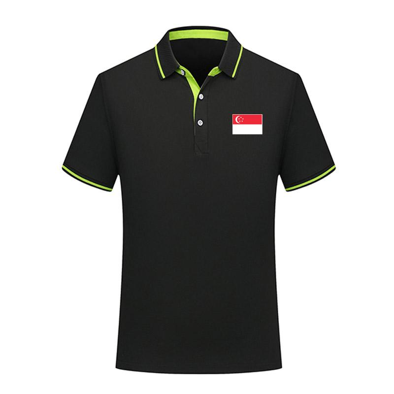 2020 Singapur Fußball Polos Fußball-Jersey-Sport Marke POLO-Kurzschluss Hülse Ausbildung polos erwachsenen Fußball Polo Shirts POLO Fans TOPS
