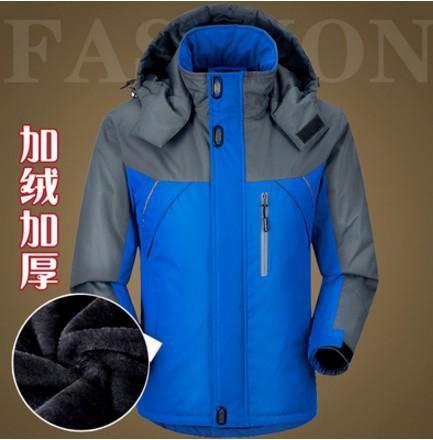 2019 Hot venda quente grossa Outdoor baixo pluma de algodão acolchoado jaqueta com capuz Montanhismo Viagem Esportes Raincoat roupas masculinas