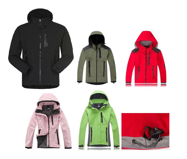 Women & Mens Waterproof Breathable Softshell Jacket Men Outdoors Sports Coats Women Ski Hiking Windproof Winter Outwear Soft Shell Jacket Quilted