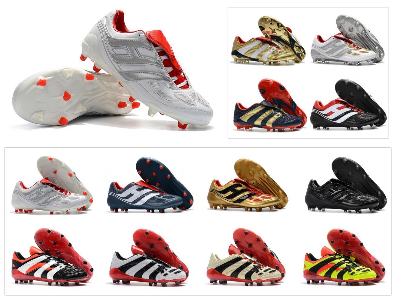 Klasikleri Predator Hassas Hızlandırıcı Elektrik FG DB AG V 5 Beckham 1998 98 Olur Erkekler Futbol Ayakkabıları Cleats Futbol Çizmeler Boyutu 39-45