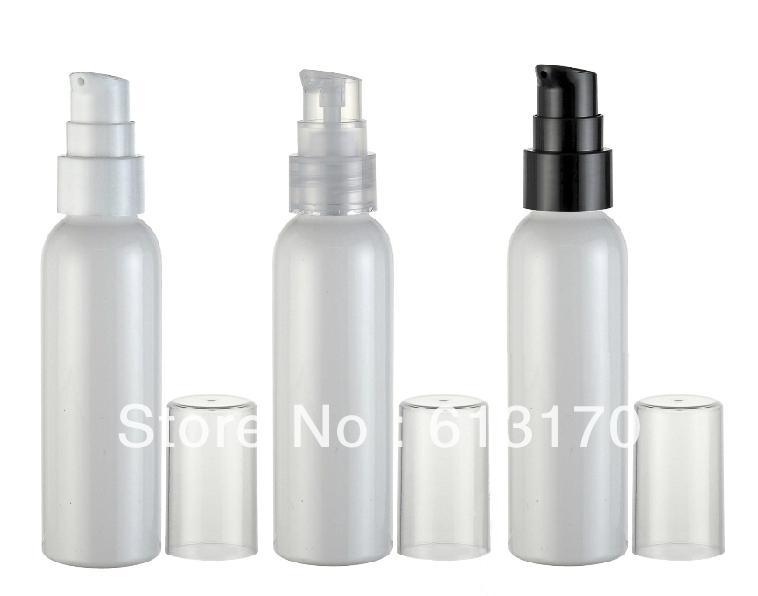 PET losyon pompa şişe Beyaz, Siyah, Şeffaf Üst, doldurulabilir Kozmetik ambalaj konteyner toptan boşaltın 60ml