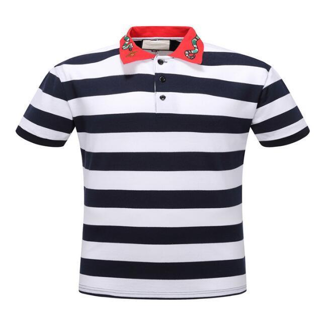 Yeni Erkek Tasarımcı Marka Yaz Polo Nakış Erkek Polo Gömlek Moda Gömlek Erkekler Kadınlar High Street Casual Top Tees Boyut M-3XL # 8002 Tops