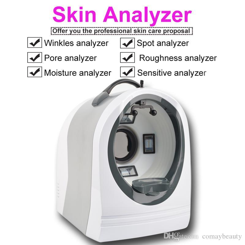 escáner atest sistema de análisis facial luz portátil UV + RGB + PL 3D analizador de piel de la cara de la piel del espejo mágico Visia Análisis Máquina
