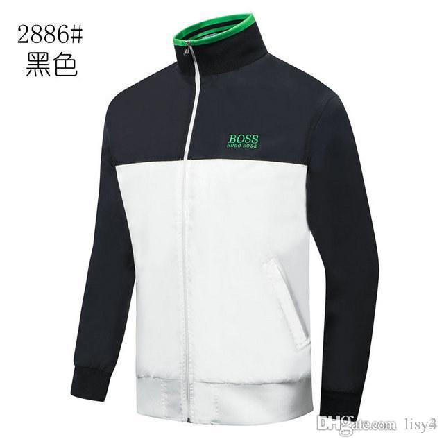 Новая мужская мода дизайн куртки мужчины женщины высокого качества куртки Luxury Casual Mens высокого качества Верхняя одежда Green M-3XL LISI3
