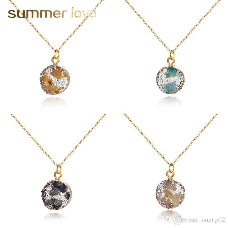 Pendant necklace Druzy pendant Faux druzy Resin druzy Druzy Druzy necklace Gold plated Resin druzy necklace