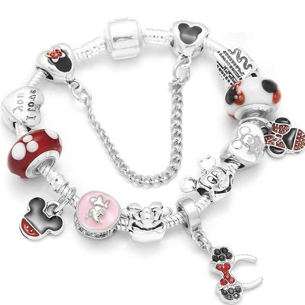 pandora radiant hearts charms Fit Pandora European pandora bracelets Authentic 925 Sterling Silver Heart Charms Bracelet with box men