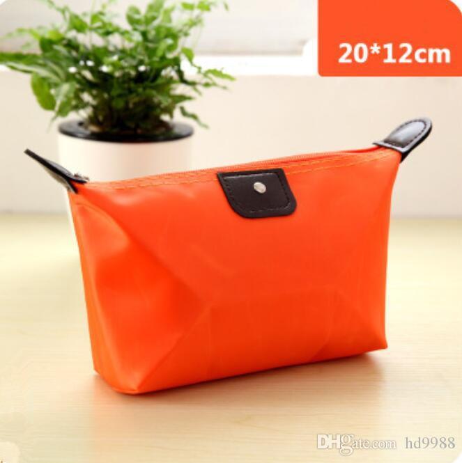 13 цвет Клецки Макияж сумка Сплошной цвет полиэстер Cosmetic Bag Around Soft Портативный корейской версии Make Up Bag