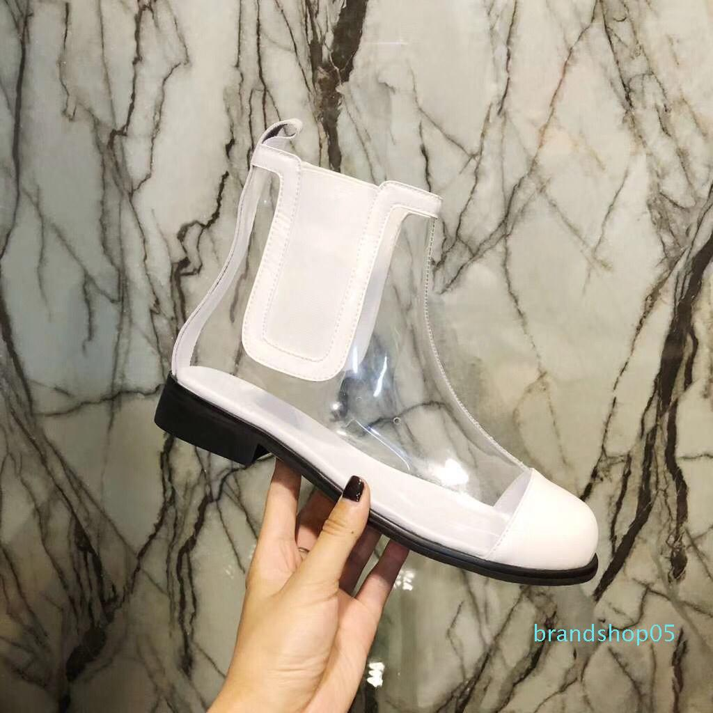 La venta caliente, nueva manera de las muchachas del diseño blanco botas cortas de resorte ocasional de PVC agradables sólida niñas de la escuela pisos zapato de las mujeres del tamaño 40-35 # dama negro KO10