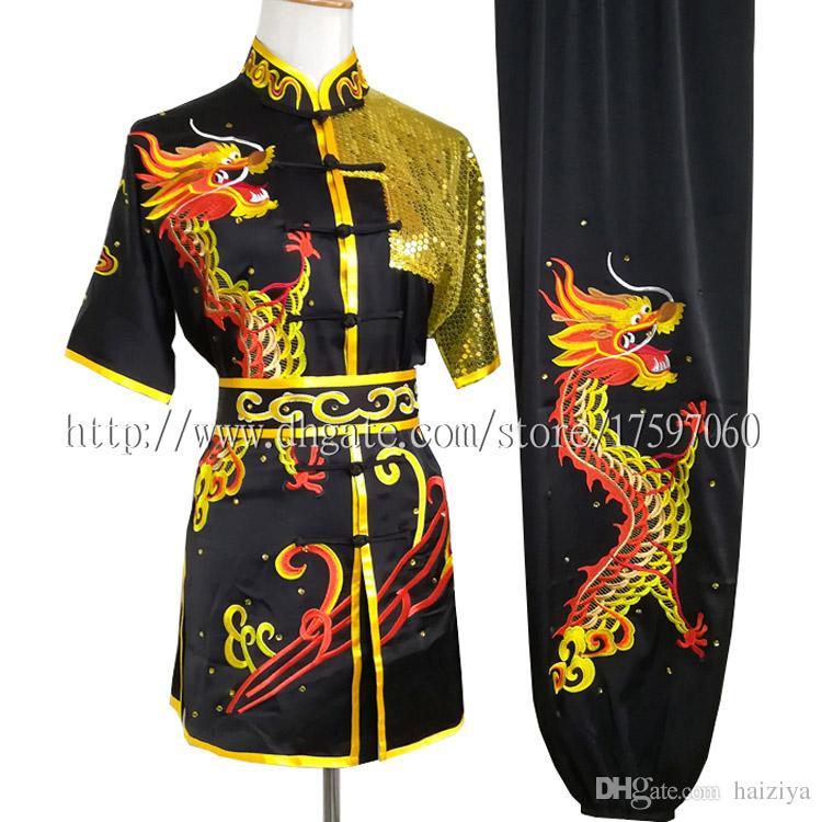 중국어 무술 유니폼 쿵후 의상 루틴 의류 무술 소년 소녀 남자 여자 아이들이 여자 아이 성인을위한 일상적인 옷을 채비를 차려