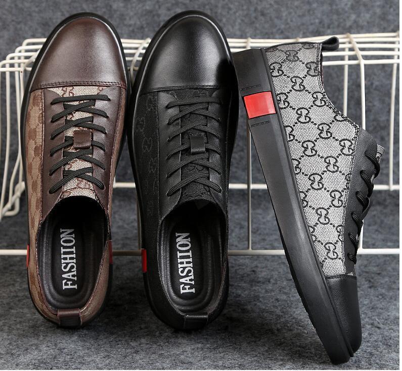 2019 New Style Fashion High Top Scarpe da uomo Spikes Sneakers Scarpe Designer di lusso Rivetti Scarpe da passeggio piatte Abito da sposa partito Scarpe DH2A11