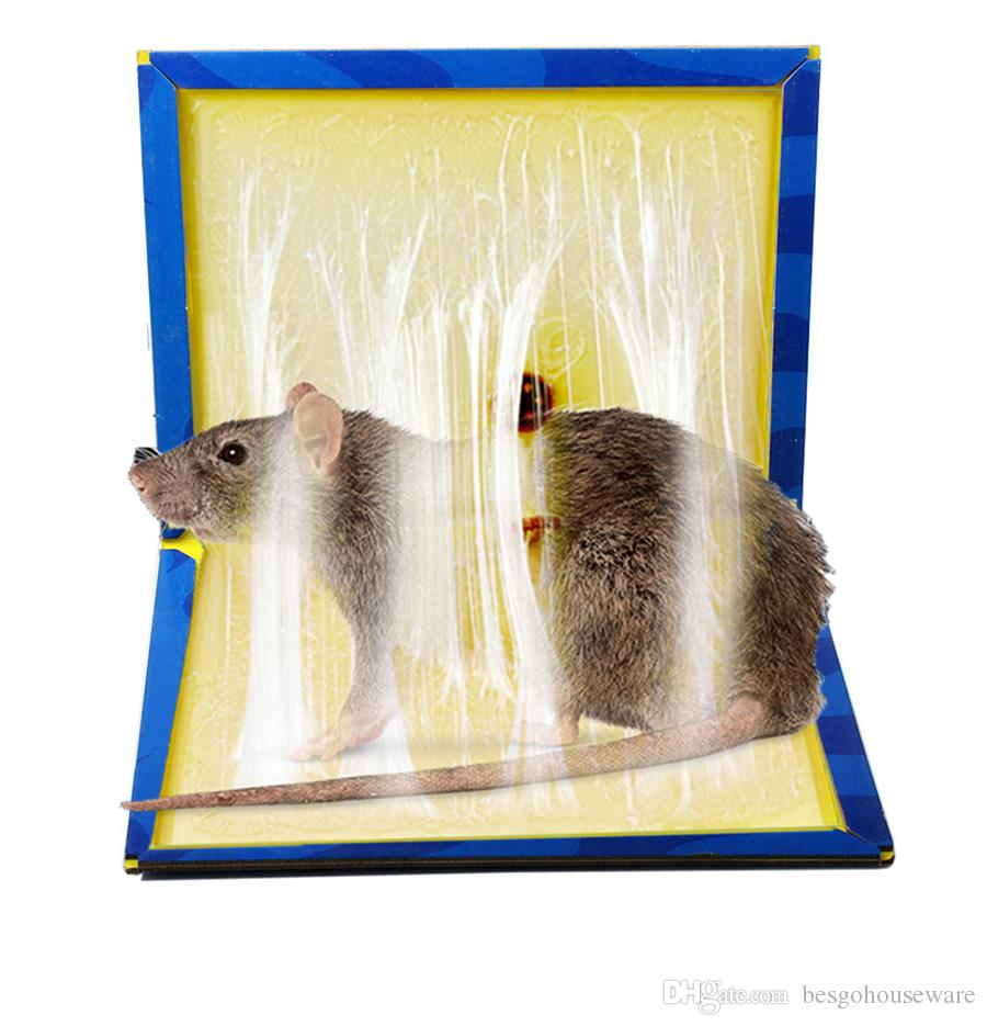 Sticky Mouse Board Mousetrap Mouse Rodent Glue Traps Board Super Sticky Rat Snake Bugs Board Household Mice Control Products BH1118 TQQ