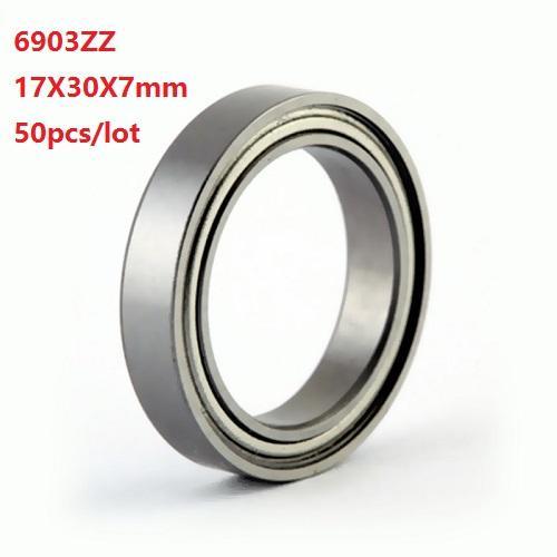 50pcs / lot 6903ZZ 6903 İnce kesit makaralı rulmanlar Bilyalı rulman ZZ 17x30x7mm top 17 * 30 * 7 mm