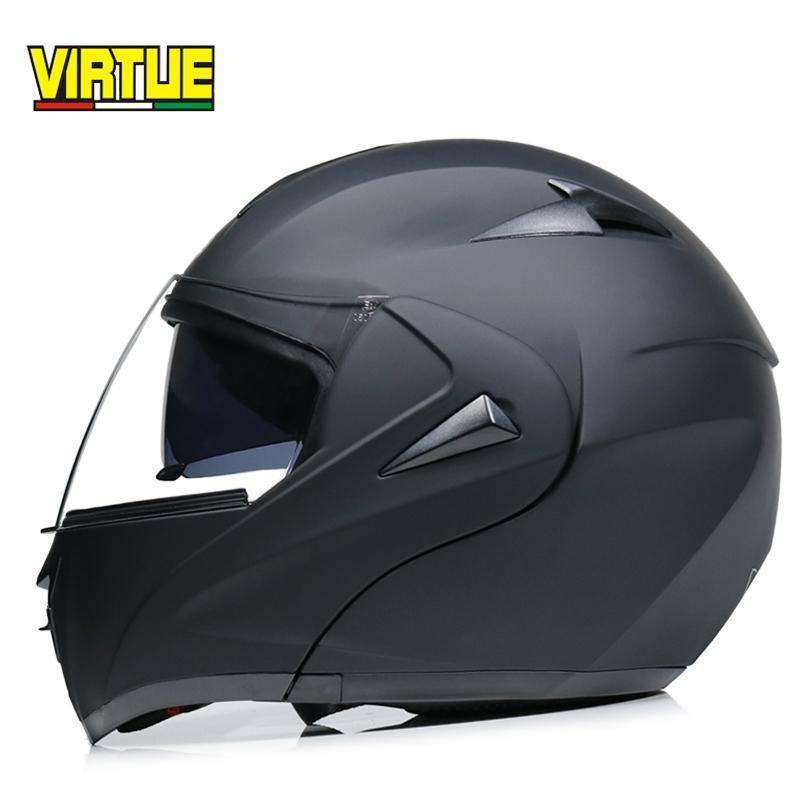 Casque de moto double Visor modulaire Flip Up casque motocross approuvé DOT casco Capacetes
