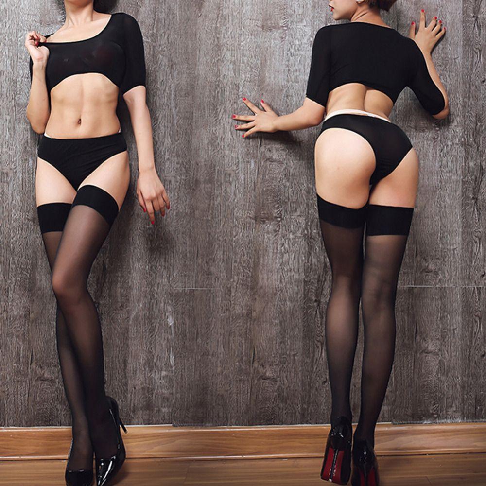 8 cores Sexy Coxa alta meias Mulheres cor sólida Elastic Ao longo do joelho longa e fina Meias Ladies Ampla fz0192 Border Oil Coxa Stocking