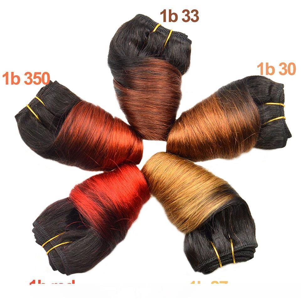 H Black Friday Deals Bob Peruvian Loose Wave 4 Bundles Wholesale Lots 12 Color Ombre Weave Spring Curly Wet And Wavy Human Hair Extensi