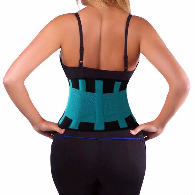 Rejilla 20pcs cintura Trainer cinturón lumbar eléctrico gimnasia Accesorios Deportes Hombres Mujeres original Power Fitness Cinturón de 7 colores para eligen alta calidad