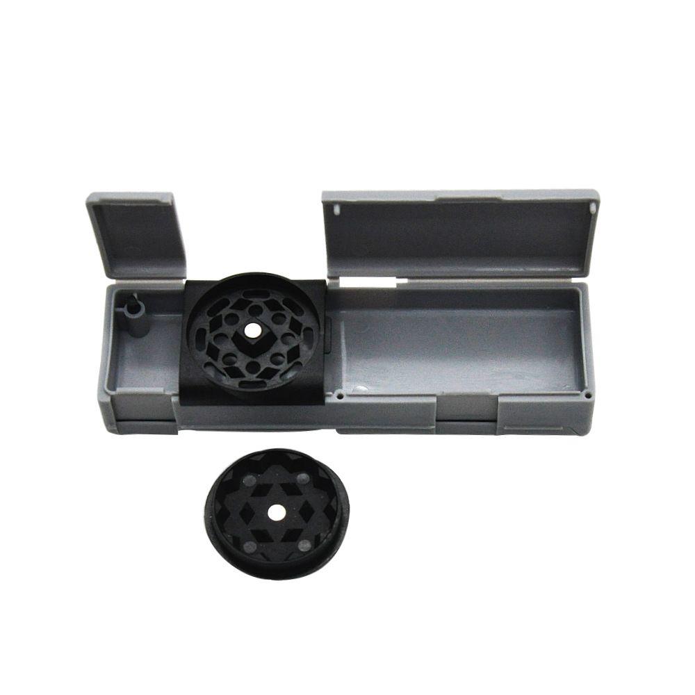 Mais novo design mini 30mm moedor de tabaco de plástico com caixa de Pílula barato moedor com caixa de armazenamento pode segurar papel de rolamento