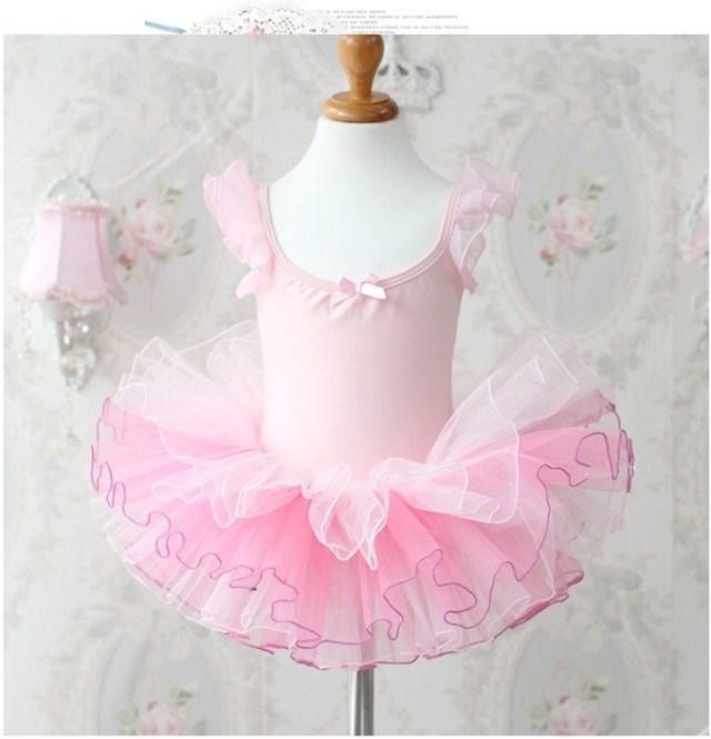 분홍색 레오타드 발레 투투 드레스 의상 vestido의 infantils 3-8T 스케이팅 파티 쇼 의류 댄스 댄스웨어 아이 아이 여자 아기