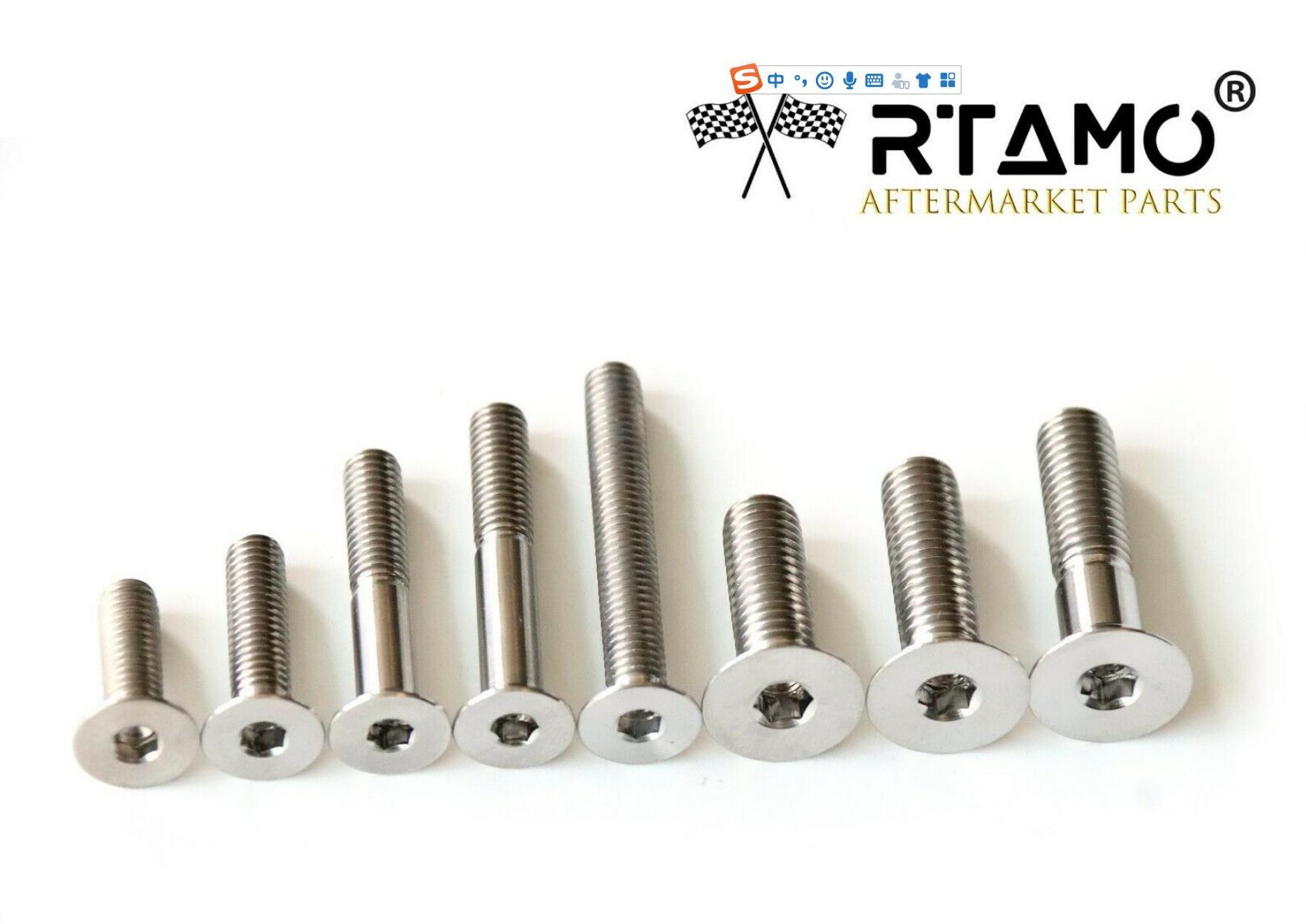 RTAMOM6 M8 M10 Various Length Titanium Gr5 DIN912 Hexagon Socket Cap Bolt