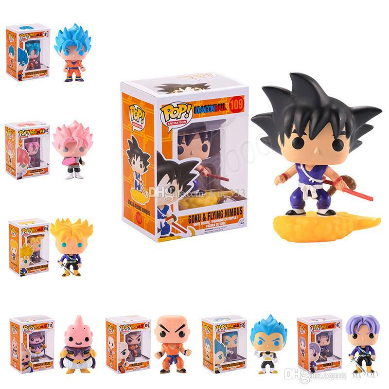 FUNKO POP Dragon Ball Z Son Goku Vegeta Piccolo Hücre PVC Action Figure Koleksiyon Modeli Perakende aksiyon figürleri çocuklar için sürpriz doll oyuncaklar