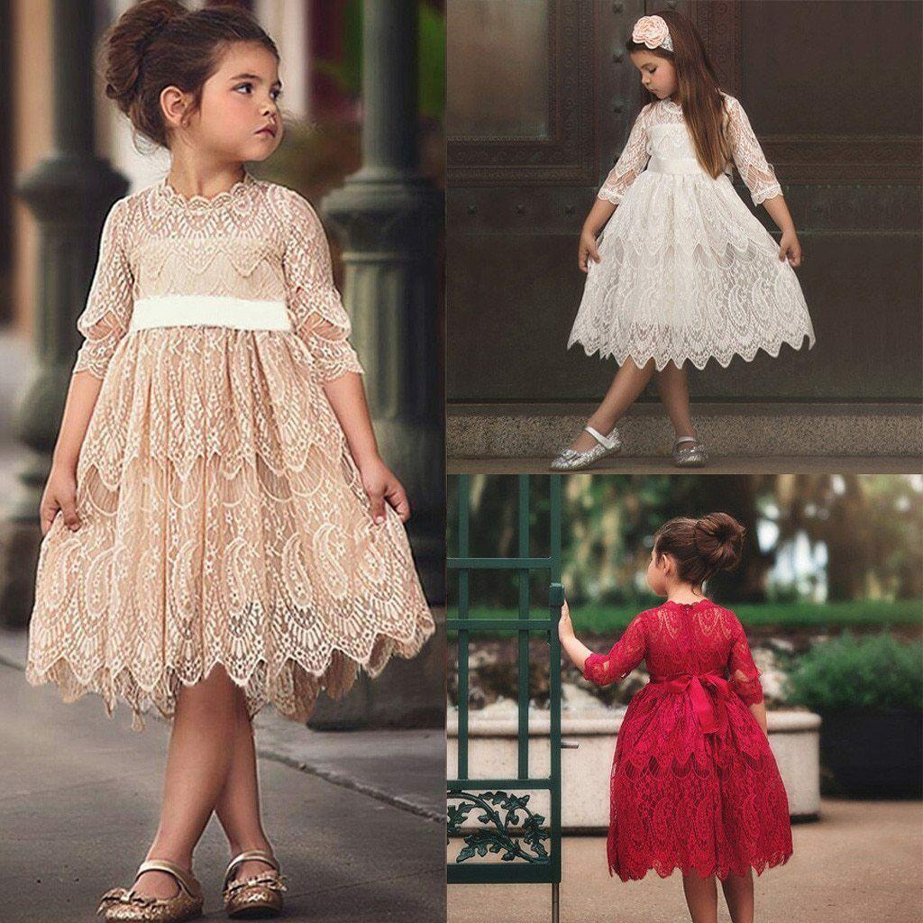 Toddler Kids Dresses Baby Girl Tulle Party PaLace Flower Princess geant Dresses Clothes