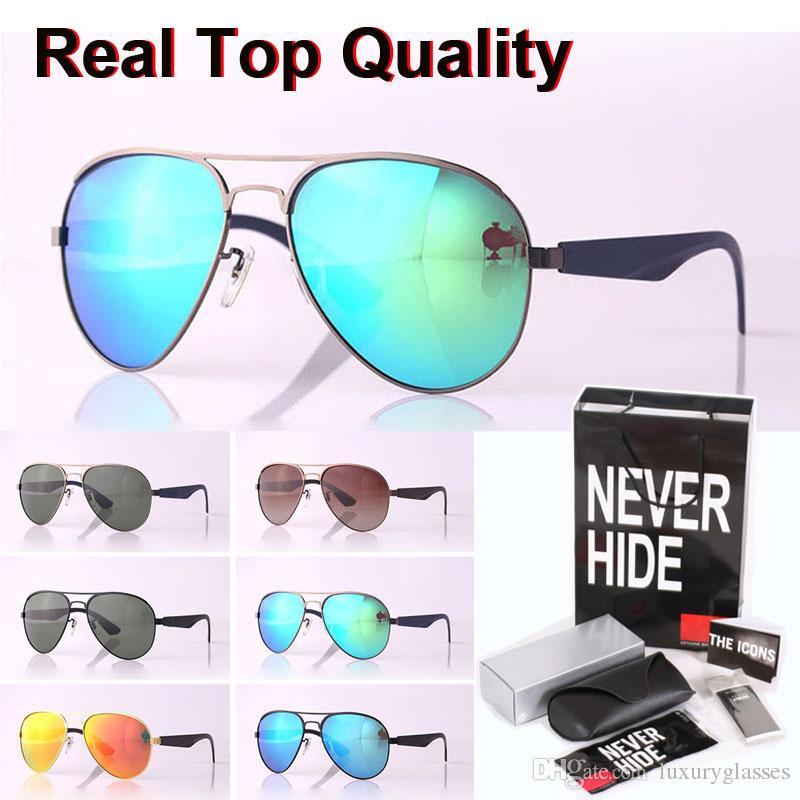 De alta calidad de la marca del diseñador gafas de sol polarizadas los hombres las mujeres del marco de la aleación de lentes Polaroid con la caja original, paquetes, accesorios, todo!