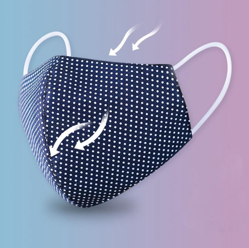 قناع القطن للجنسين PM2.5 قابل للغسل الوجه أقنعة قابلة لإعادة الاستخدام الفم قناع أقنعة تنفس الرعاية الصحية الآمن التنفس قناع
