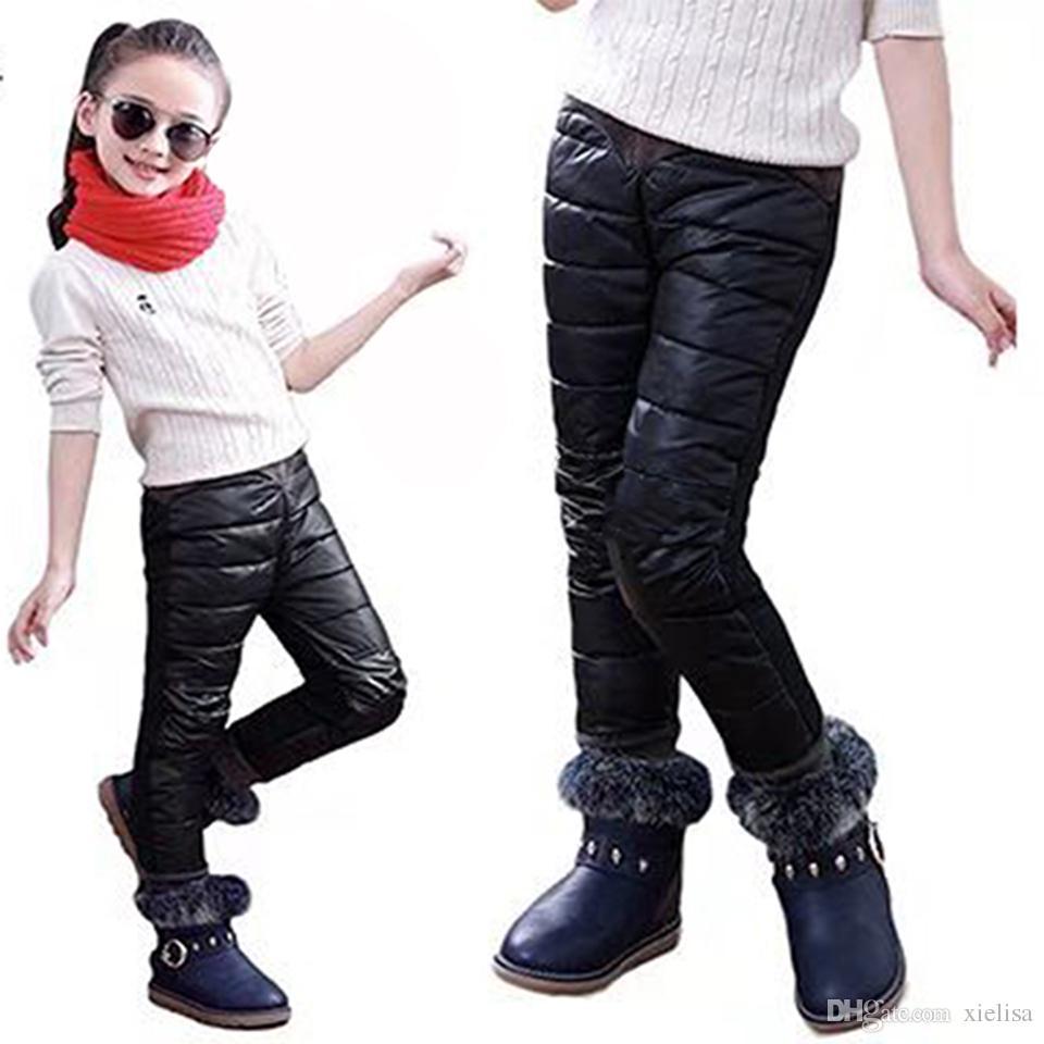 Kış Çocuk Bebek Boys Kız İçinde 3-12 yıl eski İçin Polar Tozluklar Pantolon Yeni Moda Sevimli Çocuk Kız Erkek Pantolon Yaş Isınma