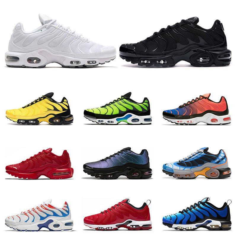 nike air max tn 2019 кроссовки высшего качества для мужчин тройной белый черный вольт цвет флип HYPER CRIMSON мода спортивные спортивные кроссовки кроссовки размер 40-46