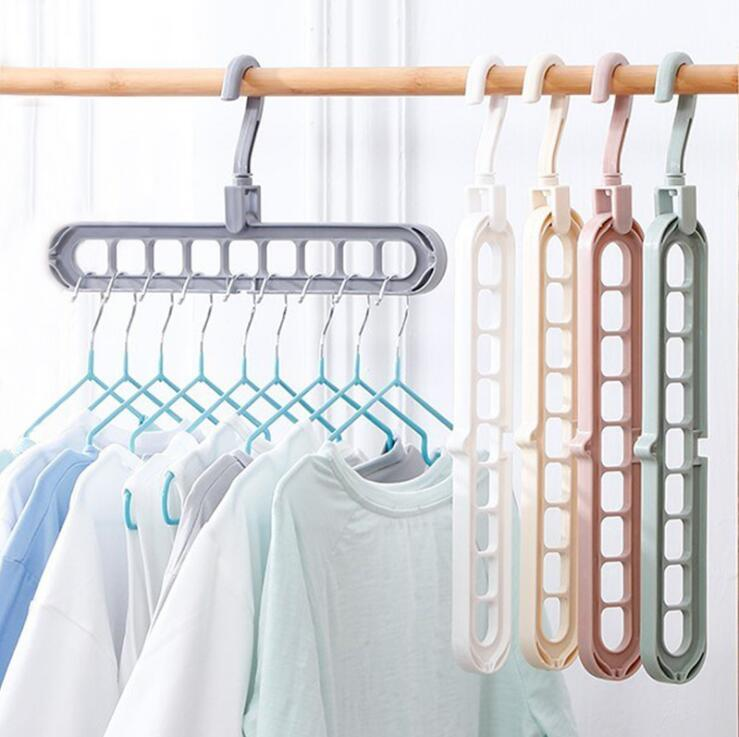 Multifunctional Magic Clothes Hangers Organizer Space Saving Hanger Racks Multi-port Clothing Rack Plastic Scarf Hangers for Clothes