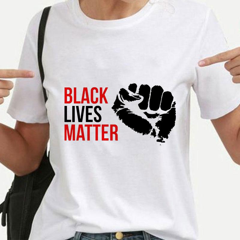 Черный жизни важно письмо футболка Женская футболка вся жизнь женщины одежда тис графический Harajuku футболки протест 2020