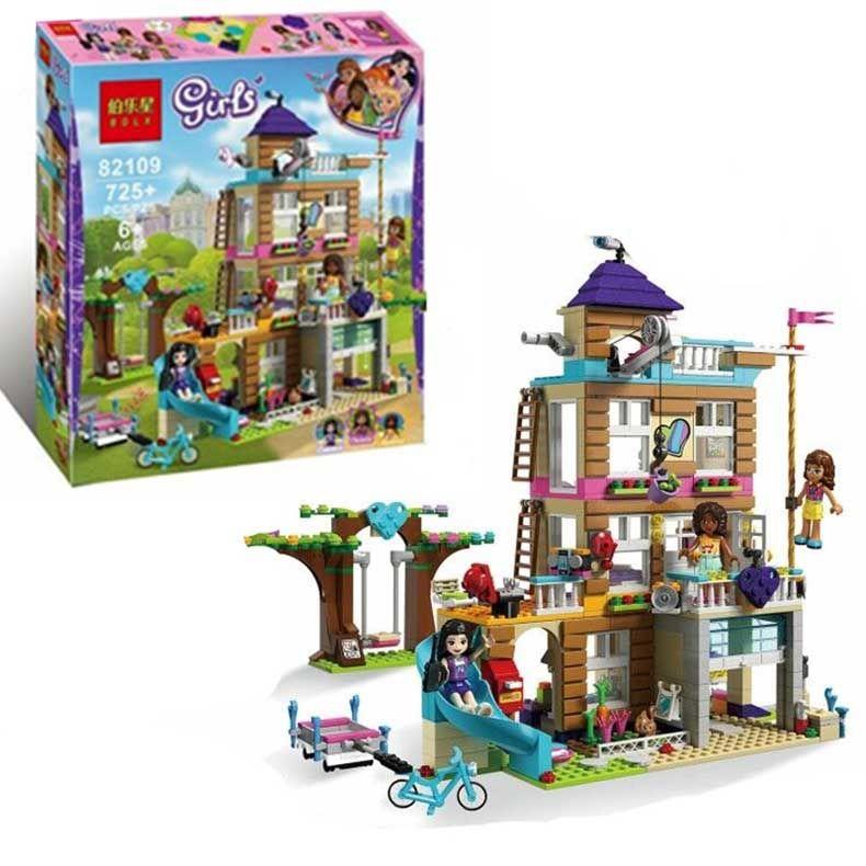 725pcs بناء مصمم كتل يغو بناء كتلة اللعب للأطفال الاطفال هدية نموذج بنين هدايا عيد الميلاد ألعاب