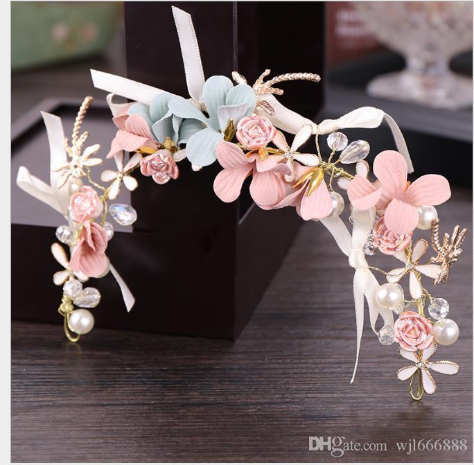Moda coreana das crianças flor hairband das crianças flor hairband acessórios