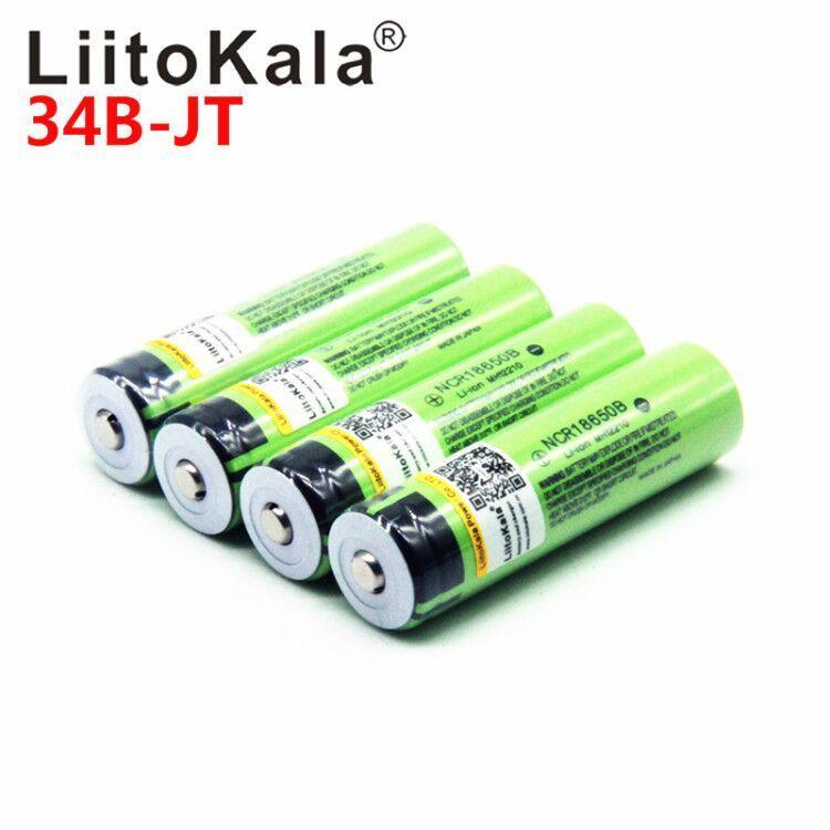 Venta al por mayor LiitoKala original 3.7V 18650 3400 Baterías recargables NCR 18650B 3400mAh para la batería universal linterna / linterna Banco