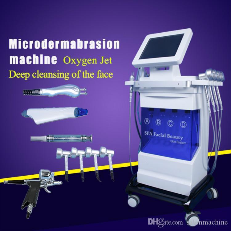 Microdermabrasion casca de vácuo máquina de remoção de cravo casca de diamante Dermoabrasão Facial pele limpa 5em1 microdermoabrasão máquinas