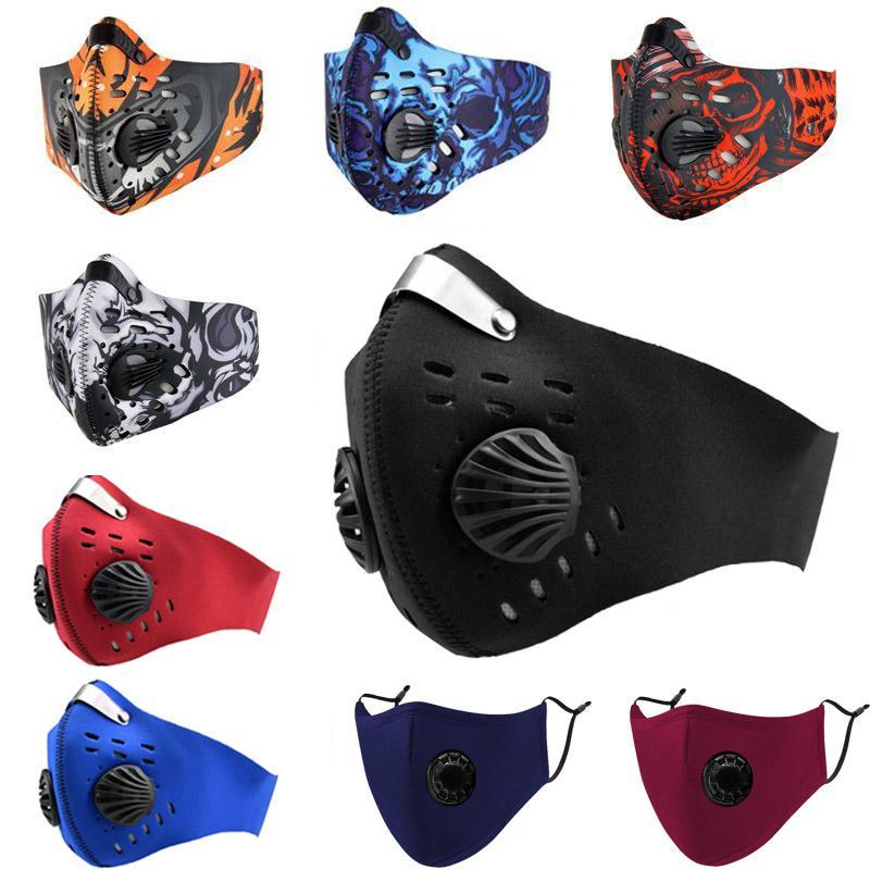 Maschera filtro Ciclismo viso con respiratore Valve PM2.5 Bocca maschera antipolvere protezione Outdoor Sport all'aria aperta della bicicletta del motociclo FFA3438