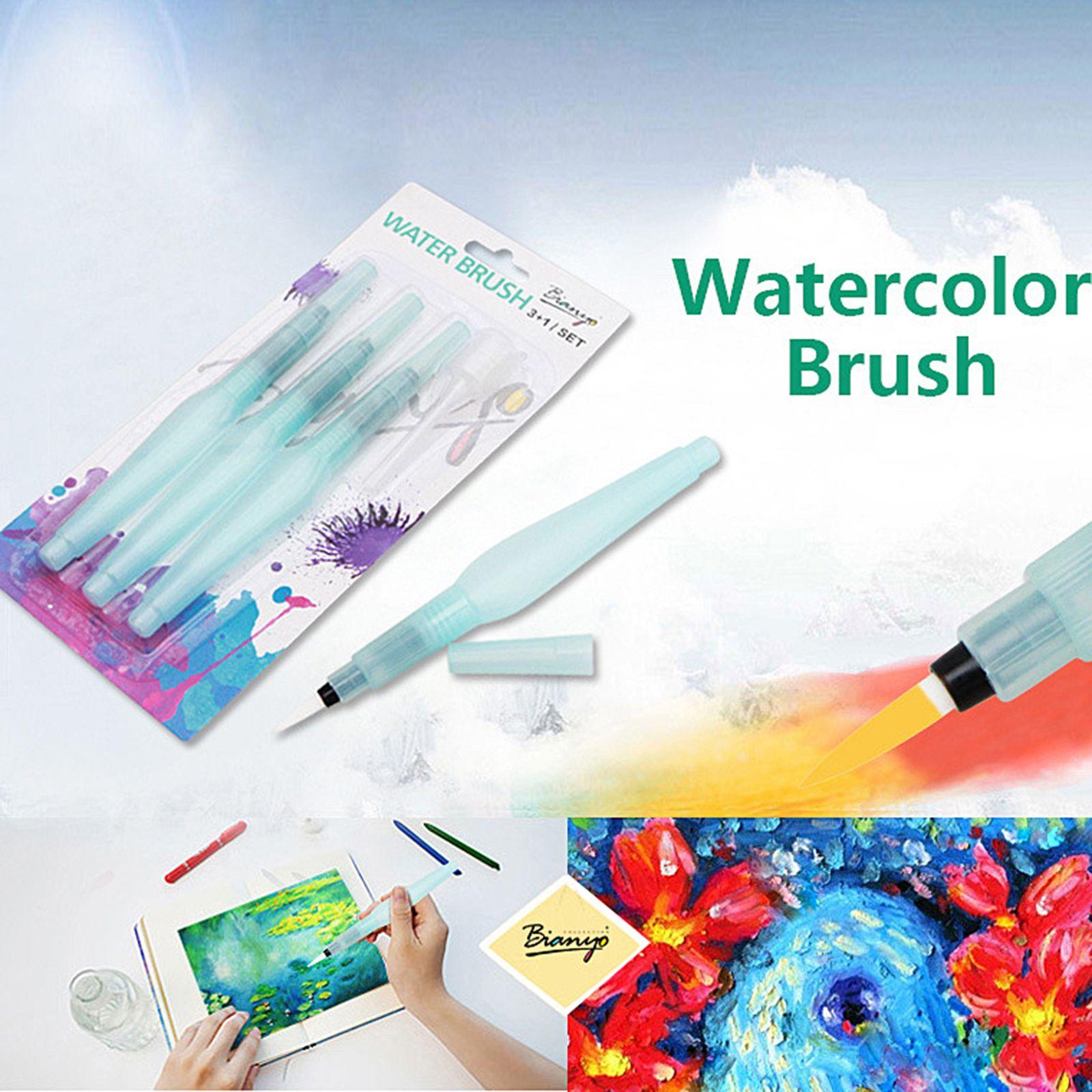 3PCS/set Water Brush Pen Set Supply for Artist Paint White Nylon Brush Draw Art