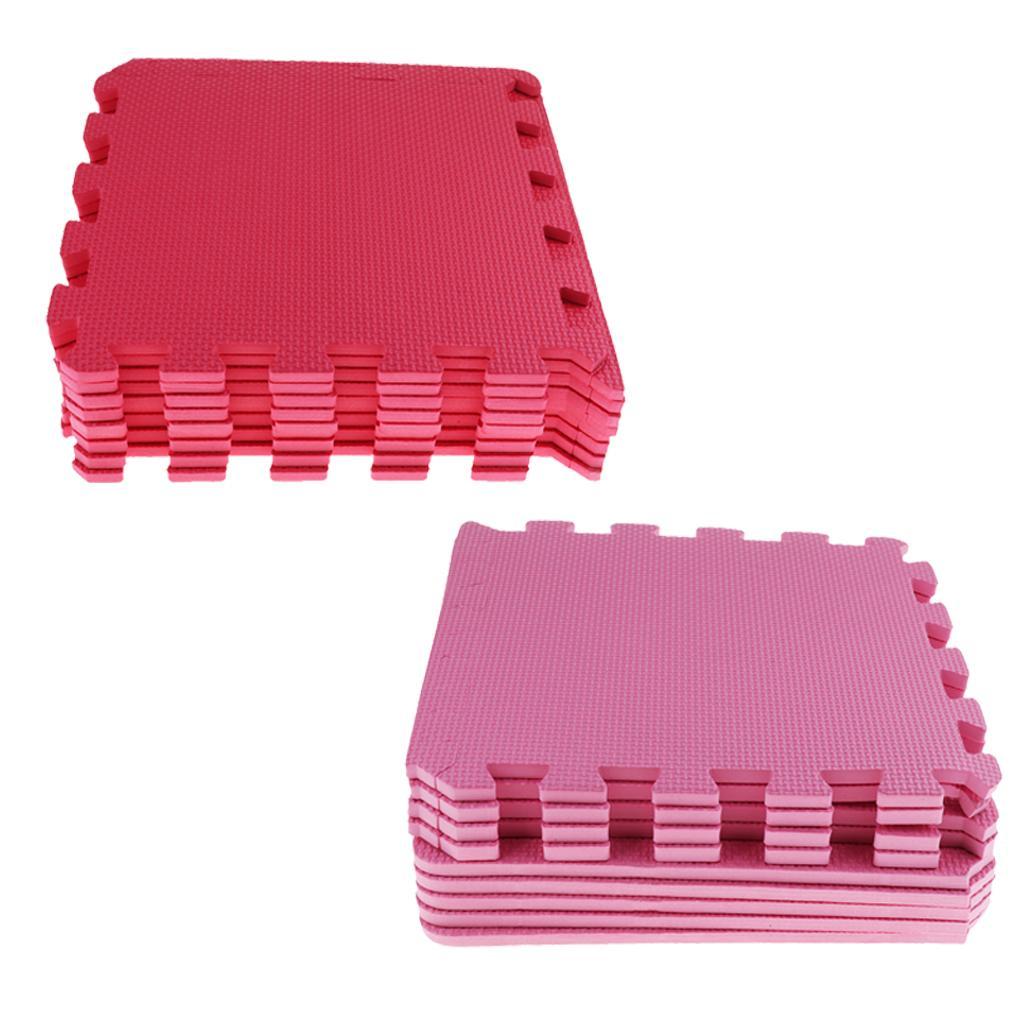 18pcs Pack Eva Floor Puzzle Mats Tiles Playmats Soft Antislip Carpet for Kids, 30x30cm