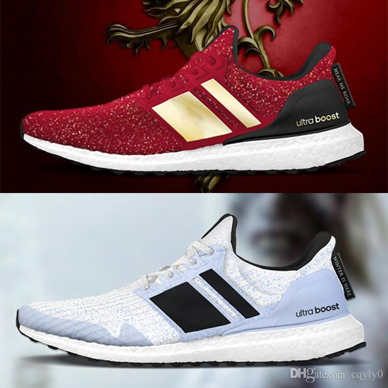 5cd85e193bb Cheap Game Of Thrones Ultra Boost Lannister White Walkers Shoes New Men  Women Ultraboost UB 4.0 PK Sneakers Size 36 45 White Mountain Shoes  Sneakers ...