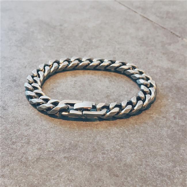 الرجال الفضة الاسترليني المجوهرات 2020 فاخر الفضة خمر ربط سلسلة سوار سميكة أساور الكوبية سوار سوار سلسلة سوار هدية